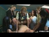 Girls in school go wild