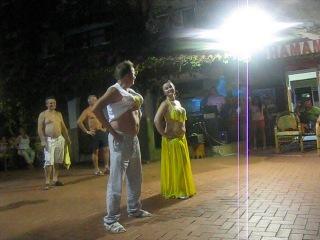 Турция, Аланья (Alanya), июль 2014, Gorgulu Kleopatra Bich Hotel, танец живота