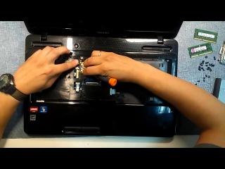 Как разобрать и почистить ноутбук Toshiba satellite L670 - 46 XXX
