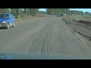 Участок дороги М7 Волга, между п. Игра и с. Чутырь. Ямы ужасные