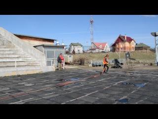 Боевое развертывание пожарного расчета. 17.04.2014 г. г.Вязьма.
