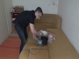Чистка антиаллергенной подушки из гречихи