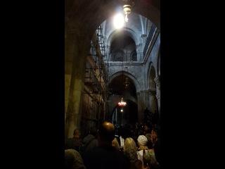 схождение Благодатного огня в Храме Гроба Господня. Иерусалим 2014.