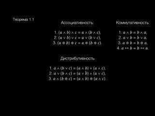 Введение в логику. Лекция 1. Базовые понятия логики, логические операции, наша первая теорема и закон де Моргана.