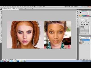 УРОКИ ФОТОШОПА. Самый быстрый фотомонтаж- замена лица в фотошопе
