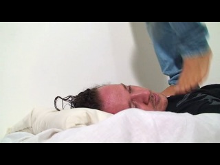 BOY TRAMPLING A MAN Tony Feet