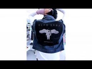 Kill city dead sara cutoff jeans vest