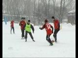 Колпашевской сборной по футболу с большим трудом удалось получить путёвку на областной этап сельских игр «Снежные узоры»