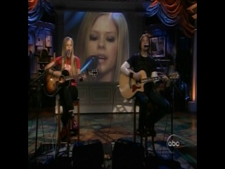 Avril Lavigne Nobodys Home Acoustic Live @ The View 09 08 04