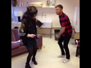 Sophie May Williams and Lee Glasson learning how to dance