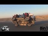 Безумные арабы меняют колёса машины НА ХОДУ, Саудовская Аравия/ Crazy Saudi Arabs guys changing wheels while moving