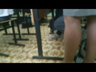 Заснял в училки под юбкой (не порно и не секс:))