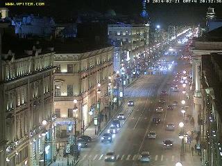 Веб камера на Невском проспекте в Санкт-Петербурге