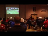 Mike Riley from O.S.U. speaks to 350 American Football coaches