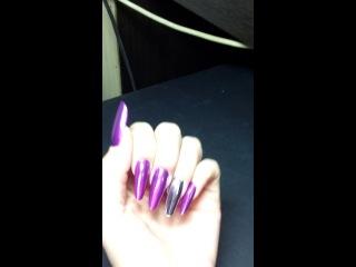 Минкс на нарощенных ногтях