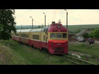 Дизель-поезд Д1-770,о.п. Скумпиа,Молдова (D1-770 at Scumpia stop, Ungheny-Balti line, Moldova)