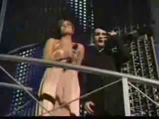 Marilyn Manson And Mandy Moore At The MTV Video Music Awards 2004