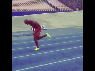 Sprint start Asafa Powell