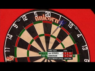 Gary Anderson vs Michael van Gerwen (2014 Premier League Darts / Semi Final)