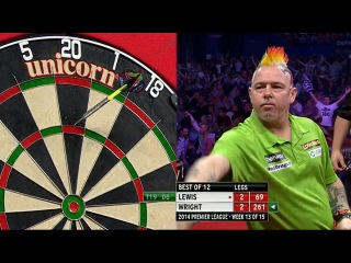 Adrian Lewis vs Peter Wright (2014 Premier League Darts / Week 13)