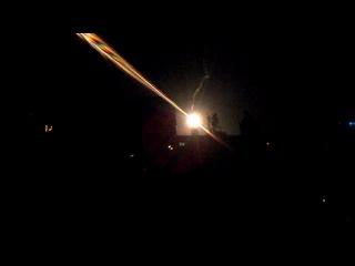 Сигнальная ракета с аэродрома.Краматорск 09.06.14 23:50