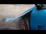 Неудачный отжиг шины Фиат Пунто, взрыв-фейл, Польша / FAIL. Fiat Punto burn - tire explode, Poland