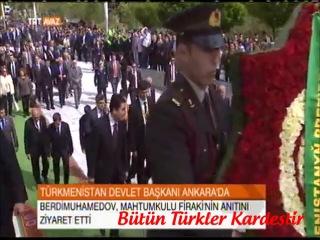 Türkmenistan Devlet Başkanı Gurbangulı Berdimuhamedov Türkiyede...