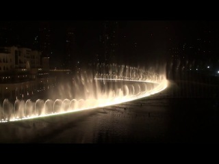 The Dubai Fountain (Burj Khalifa) -������ ������ - ���� ��������- Con Te partiro