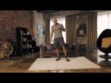 Домашние тренировки с Денисом Семенихиным . Отжимания на трицепс (диван вместо тренажера)
