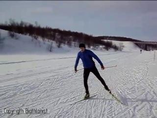Техника конькового хода на лыжах
