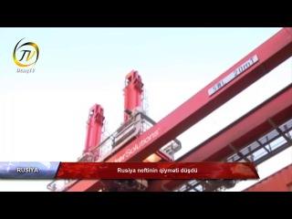 Rusiya neftinin qiyməti düşdü