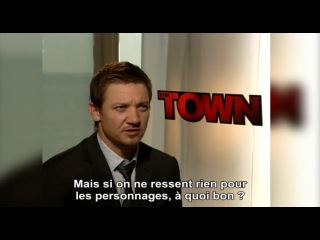 Ben affleck, rebecca hall, jeremy renner interview : the town