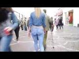 Прошла в нарисованных джинсах и никто не заметил