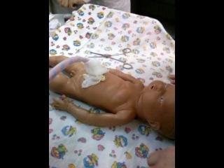 первичный туалет новорожденного