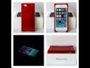 Красный чехол для iPhone Zenus Avoc Ice Cube (льдинка)