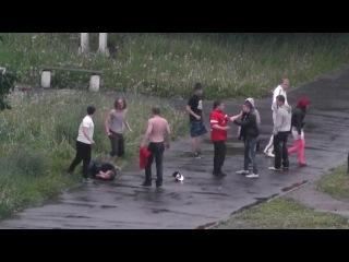 Фанаты спартака (драка в Саранске с гопниками)
