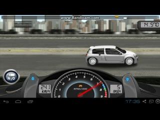 Drag Racing. Career Stock. 3 level Renault Clio V6 Sport