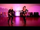 Jorge Ataca Burgos and Tanja La Alemana Kensinger of Island Touch debut a new bachata routine at the Bahhari Night social in Orlando on 3 15 14