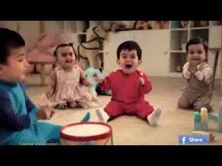Прикольная реклама, дети танцуют