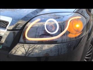 2.8 D2S +Flexible LED strip daylight DRL vs Aveo.1
