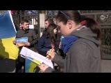 Русские, украинцы и поляки - акция против войны - Познань, Польша
