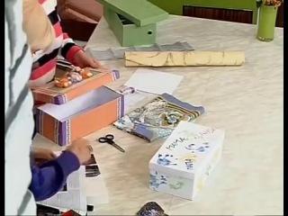 Мастер-класс Декорирование обувной коробки