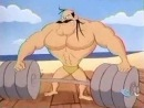 Tom & Jerry Kids 119b Muscle Beach Droopy