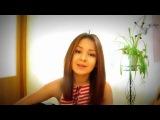 Дети таланты.  Очень милая девушка поёт и играет на гитаре, авторская песня.mp4