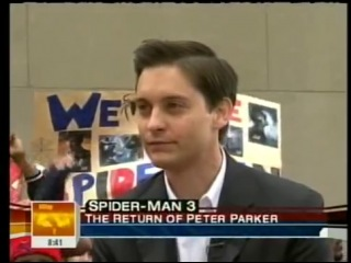 Tobey Maguire Spider-Man 3 Promo (2007)