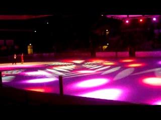 Пернель Каррон и Ллойд Джонс на ледовой арене Шарлемань