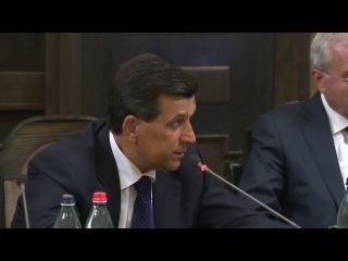 Глава МЧС Армении Армен Ерицян доложил премьер-министру о ситуации на дороге Ванадзор-Алаверди 21 августа 2014 года