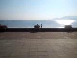 Вьетнам - Нячанг  набережная - вид на сооружение ЛОТОС, на пляж и дорогу - март 2014