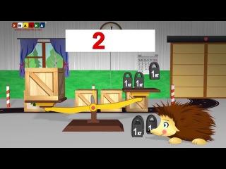 Развивающий мультфильм для детей- Ёжик Жека учится считать и складывать числа