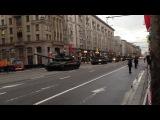 Т-90А на на репетиции Парада Победы. Москва, улица 1-я Тверская-Ямская, 05.05.2014